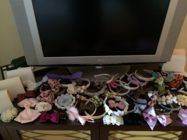 Andrea's Beau donated a lot of beautiful hair accessories and handbags for the girls!