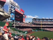The Nats game! It was gorgeous and we had great seats. Thank you Ms. Evers!